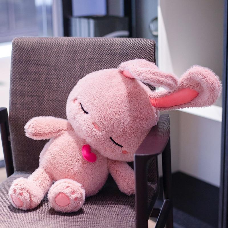 Giant Peeps Bunny Kawaii Stuffed Animals Plushie Cute Rabbit Doll Baby Companion Toy Birthday Valentine's Day Gift For Girls Kid