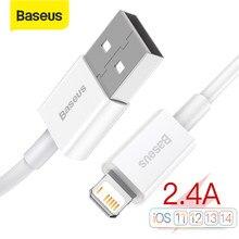 Baseus USB Kabel für iPhone 12 Pro Max Telefon Ladegerät 2,4 EIN Kabel für iPhone 11 Pro 8 XR X 7 Plus Daten USB Kabel Schnelle Ladekabel