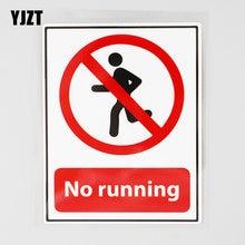 Yjzt 9.4cm × 12.4cm não correr impermeável decalque pvc carro adesivo 12c-0660
