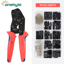 SN-28B Crimping Tools for 620PCS 2.54mm Dupont Pin Compression Modular Insulated Terminal Crimper Pin crimper plier kit sn 28b awg28 18 pin crimper tool 2 54mm 3 96mm 0 1 1 0mm2 cables pliers cutter pin crimper crimping plier terminals tool