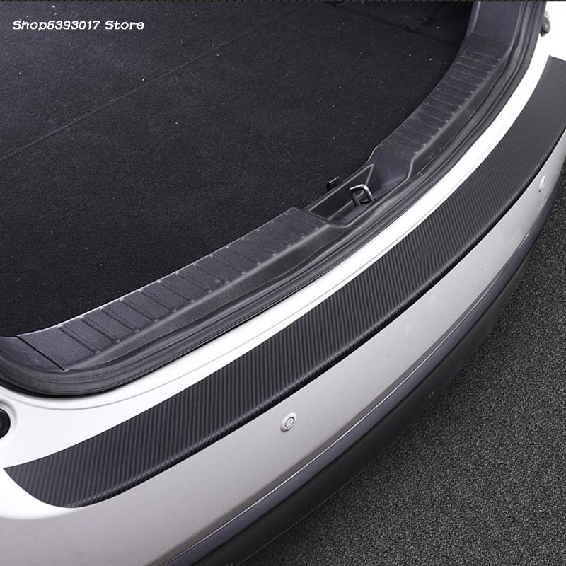 Car Rearguards PU Carbon Fiber Leather Rear Bumper Trunk Fender Sill Plate Protector Guard For <font><b>Mazda</b></font> <font><b>CX5</b></font> CX-5 2017 2018 2019 image