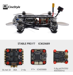 Image 5 - Гоночный Дрон GEPRC CineStyle 4K 3 дюйма 144 мм FPV PNP BNF с F7 двойным гироскопом Контроллер полета 35A ESC 1507 3600KV бесщеточный двигатель