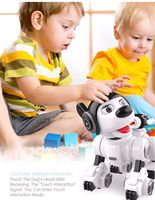 Smart Robot Dog Intelligent Programming Remote Control Dog Touch Induction Singing Dancing Launch Soft Bomb Intelligent RC Toy