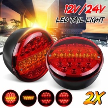 Tail-Light Truck Trailer Signal-Lamp Caravan Rear-Stop-Indicator 24V LED 12V 2pcs Bus