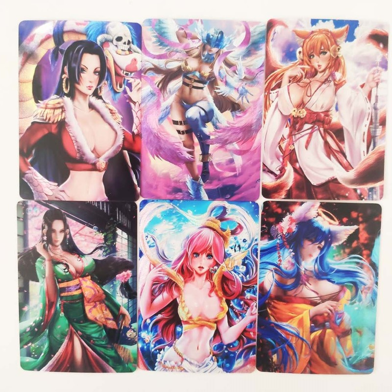 9pcs/set Sexy Beauty One Piece Robin Sexy Girls Dragon Ball Z Hobby Collectibles Game Collection Cards Limited Free Shipping