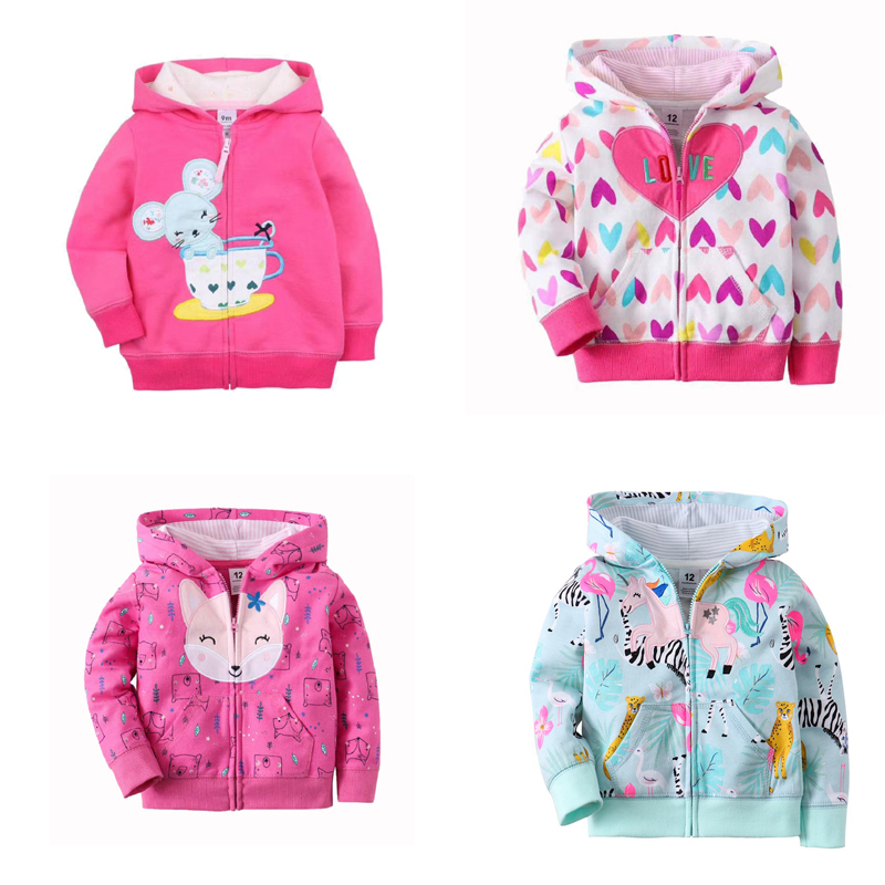 baby jacket 2020 autumn baby boy girls clothes long sleeve hooded coat fashion tops zipper cotton 9m-3T infant clothing