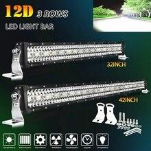 цена на CO LIGHT 3-Rows LED Bar 12D 22 32 42 50 52 inch LED Light Bar Combo for Jeep Driving Offroad Boat Tractors Truck 4x4 SUV 12V 24V