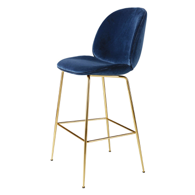 Nordic Wrought Iron Bar Stool Home Indoor Backrest High Chair       Leisure