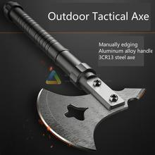 цены Outdoor Multifunction Axe Fire Ice Army High Carbon Steel Tactical Tomahawk Practical Axe Aluminum Alloy Handle Camping Hatchet