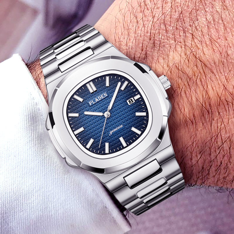 PP NAUTILUS 5711 Designer PLADEN Brand Watch For Men Fully Steel Luminous Hands Top Luxury Mens Wrist AAA patek Watch Male Clock|Quartz Watches| |  - title=