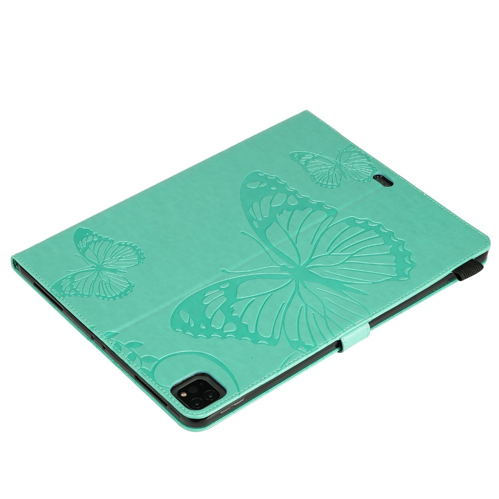 Tablet iPad 2020 Cover 12.9 Folio For Case Fundas Pro Folding 2018 Butterfly Embossed