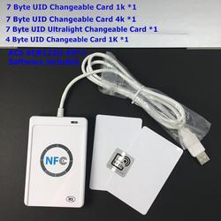ACR122U nfc 13,56 МГц rfid считыватель писатель Чтение Запись 7 байт UID заменяемый нулевой участок 0 блок записываемая карта + GUI, программное обеспечен...