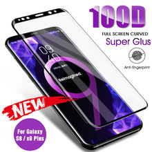 Full Curved Tempered Glass On For Samsung Galaxy S8 S9 Plus Note 9 8 Screen Protector For Samsung S7 S6 Edge S9 Protection Film