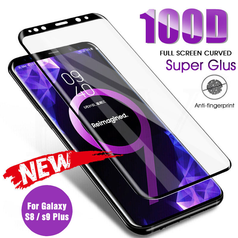 Full Curved Tempered Glass On For <font><b>Samsung</b></font> Galaxy S8 S9 Plus Note 9 8 <font><b>Screen</b></font> <font><b>Protector</b></font> For <font><b>Samsung</b></font> <font><b>S7</b></font> S6 Edge S9 Protection <font><b>Film</b></font> image