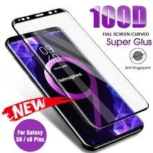 מלא מעוקל מזג זכוכית על לסמסונג גלקסי S8 S9 בתוספת הערה 9 8 מסך מגן עבור סמסונג S7 S6 קצה S9 הגנת סרט