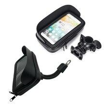Imperméable à leau vélo moto téléphone portable sac Support cyclisme rétroviseur guidon étui téléphone Support GPS montage pour iPhone 8P XS