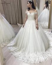 Lace Princess Wedding Dresses 2020 Off Shoulder Lace Up Ball Gown Bridal Gowns Bride Dress Vestido De Noiva стоимость