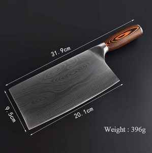 Image 3 - Cuchillo de cocina de acero inoxidable Chopper 7CR17, cuchillo de carnicero, cuchillos de Chef, dibujo de damasco
