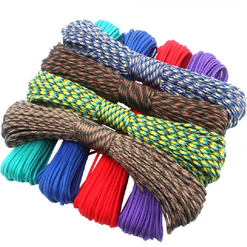 Wholesale 100m Paracord 550 Paracorde Cord Lanyard Rope Mil Spec Type III 7 Strand Cord Climbing Camping Survival Equipment Rope