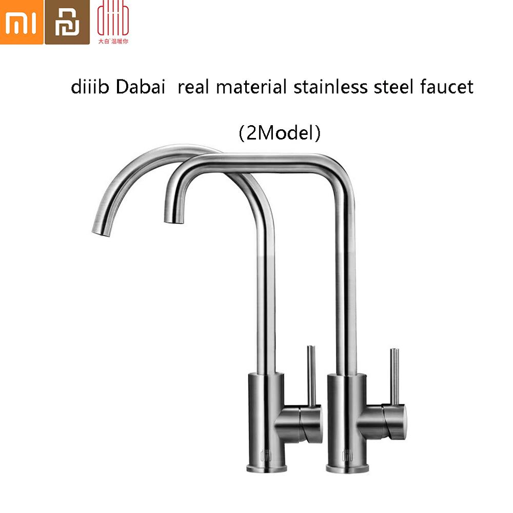 Diiib Dabai Real Material Stainless Steel Kitchen Faucet Mixers Sink Tap Kitchen Faucet Modern Hot And Cold Water Form Xiaomi