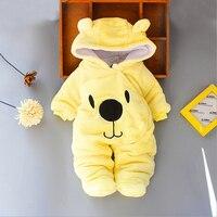 Зимняя одежда для маленьких мальчиков и девочек Леопардовый флисовый комбинезон, комплект для новорожденных, одежда для маленьких мальчик...
