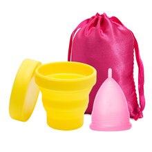 Luxo copo menstrual esterilizador silicone copo menstrual higiene feminina copa menstrual feminino senhora período copo coletor menstrual