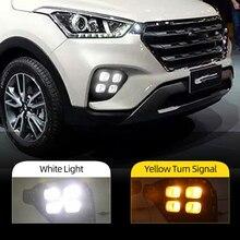 Car Flashing DRL Driving Daytime Running Light fog lamp Relay LED Daylight style free shipping For Hyundai Creta IX25 2017 2018