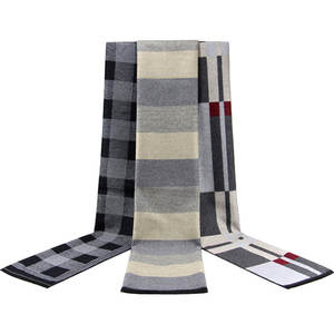 Blanket Scarf Winter Warm Geometric Men Striped Checked