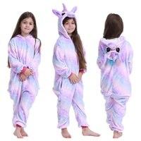 кигуруми Пижама с единорогом; комбинезон с животными для детей; одежда для сна для мальчиков и девочек; детская пижама с рисунком единорога; ...