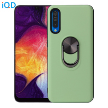 IQD for Samsung A50 A70 Case Rotating Ring Car Bracket Galaxy S10 Plus Cover Holder Stand Dual Layer Back Protective Cases