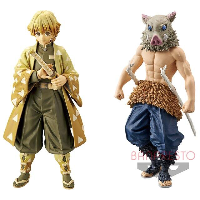 Tronzo Original BANPRESTOอะนิเมะDemon Slayer Kimetsuไม่มีYaiba Agatsuma Zenitsu Hashibira Inosuke PVC Action Figureของเล่นสต็อก