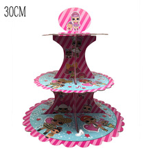 LOL Surprise Dolls Original Happy Birthday Party Decorations Lol Theme Decoration Cake Stand 30CM Toys for Girls