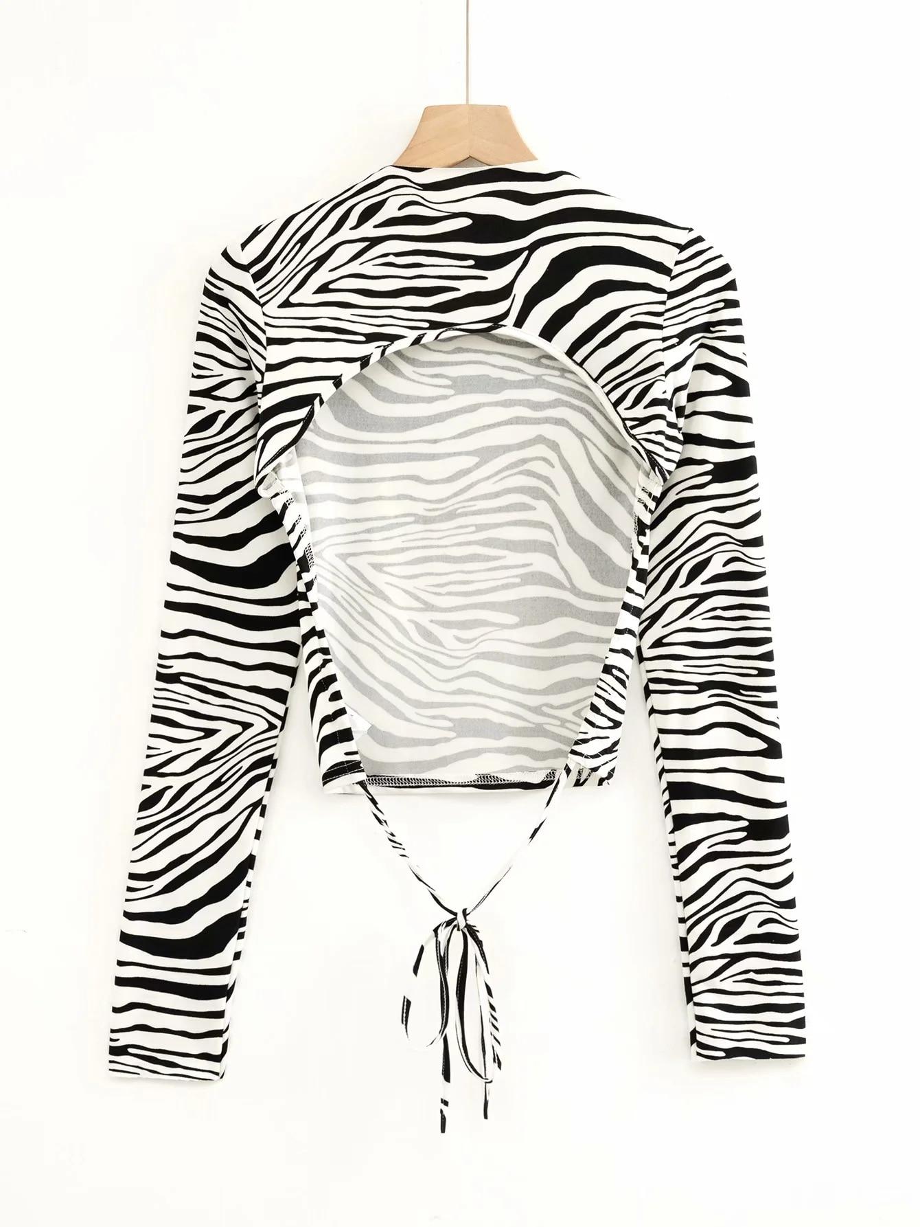 Купить сексуальная футболка с открытой спиной и длинными рукавами женская