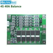 цена на Upgrade 4S 40A Li-ion Lithium Battery 18650 Charger PCB BMS Protection Board with Balance For Drill Motor 14.8V 16.8V Lipo Cell
