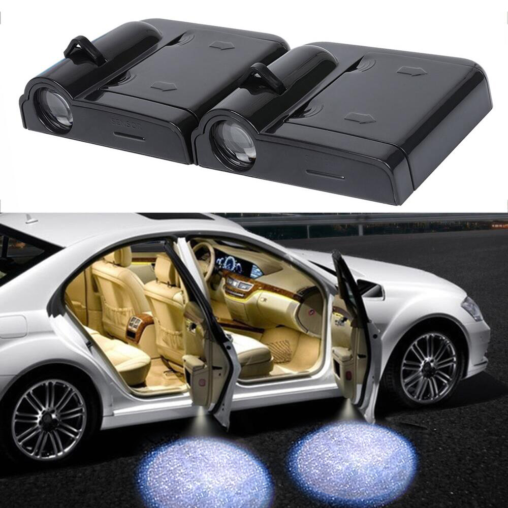 2x Car Door LED Logo Projector Ghost Shadow Light For Hyundai Solaris Accent I30 Ix35 Elantra Gt Santa Fe Tucson Getz I20 Sonata