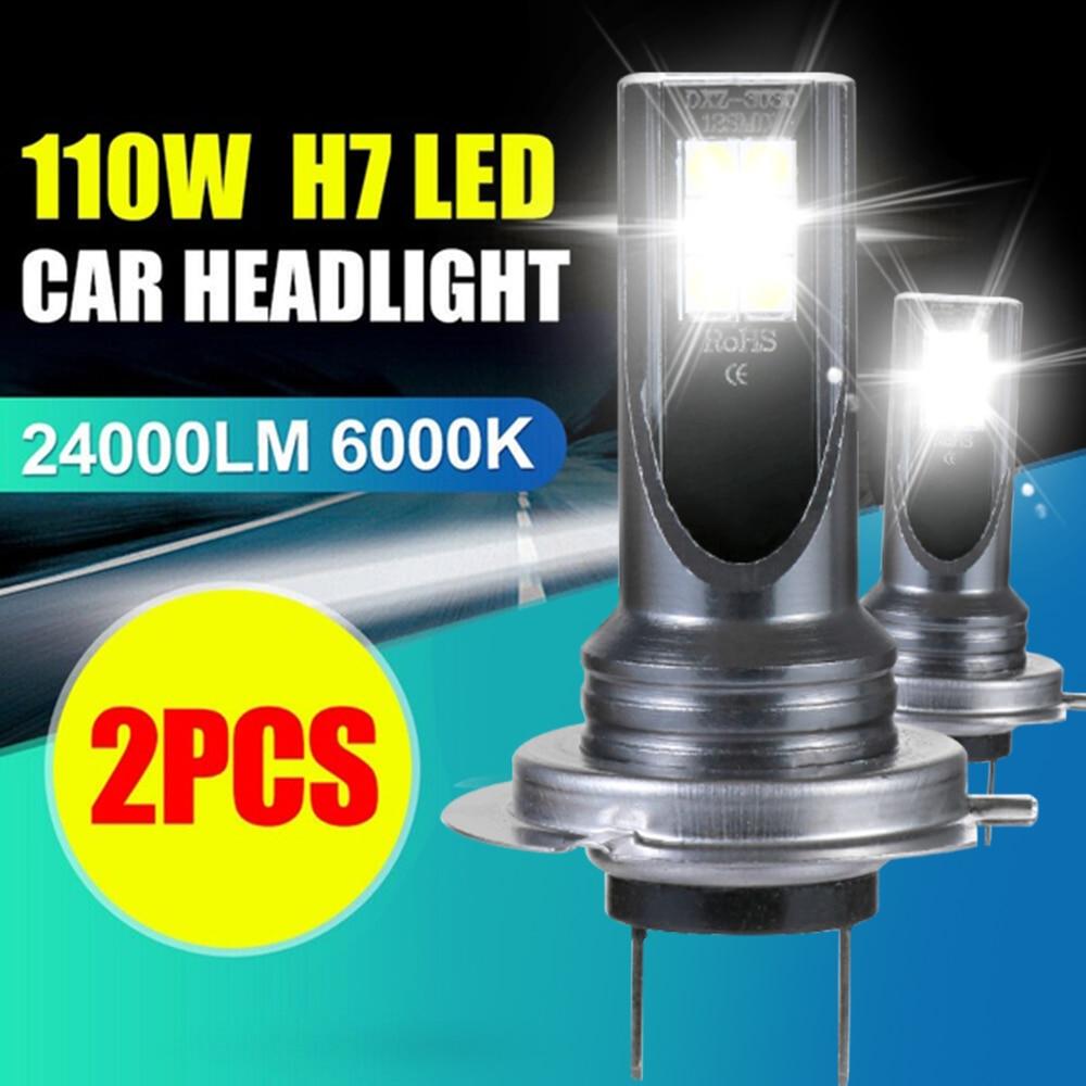 2 шт./компл. Водонепроницаемый Автомобильный светодиодный светильник H7 110W 24000Lm светодиодный автомобилей головной светильник преобразовани...