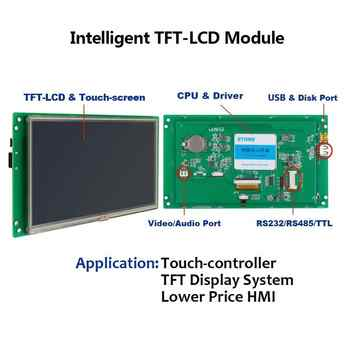 STONE 7.0 Inch HMI TFT LCD Touch Screen with RS232/RS485 Interface+Program for Industrial Use