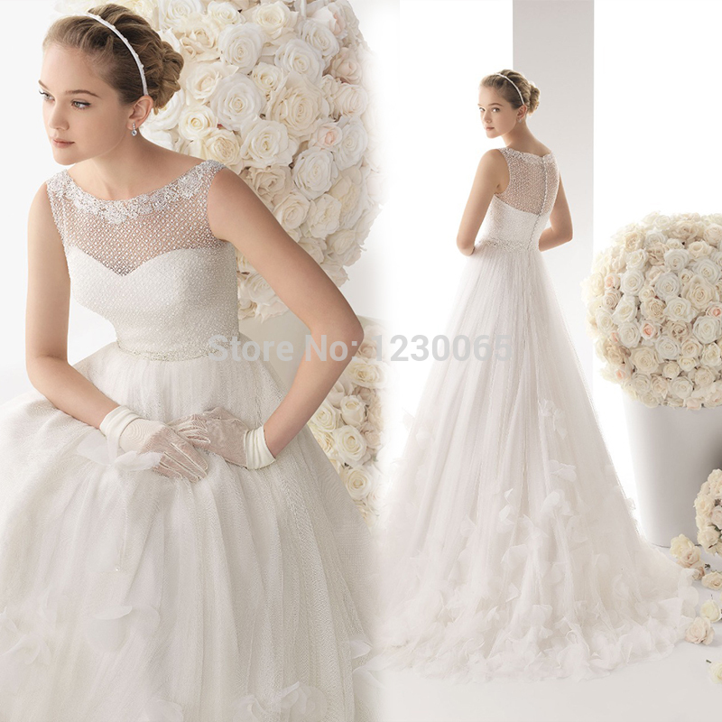 Free Shipping Long Romantic Flowers Bridal Gown Boda 2016 Casamento Beading Crystal Vestido De Noiva A-line Sexy Wedding Dress