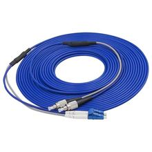FC/UPC to LC/UPC Armored Fiber Patch Cable Duplex Single Mode optical cord