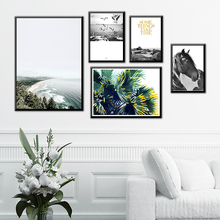 Nordic Horse Wall Art Inspirational Canvas Painting Picture Paintings For Living Room Aesthetic Decor