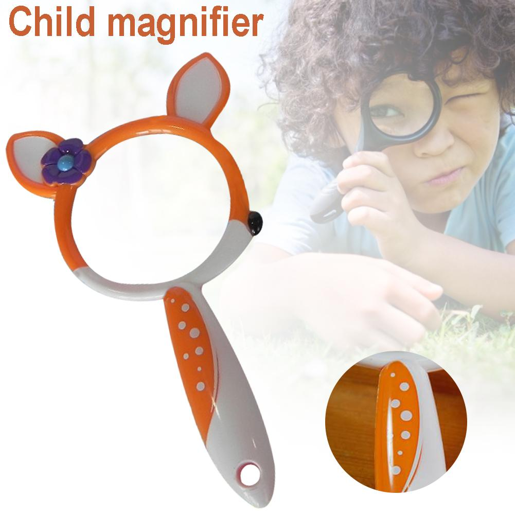 Children's Magnifying Glass Outdoor Science Exploration Cartoon Deer Magnifying Glass Toy Kindergarten Teaching Aid Magnifying