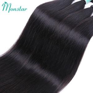 Image 5 - Monstar 1/3/4 บราซิลตรงผมสานสีธรรมชาติ Weft 100% มนุษย์ผม 8   34 36 38 40 นิ้ว Remy Hair Extensions