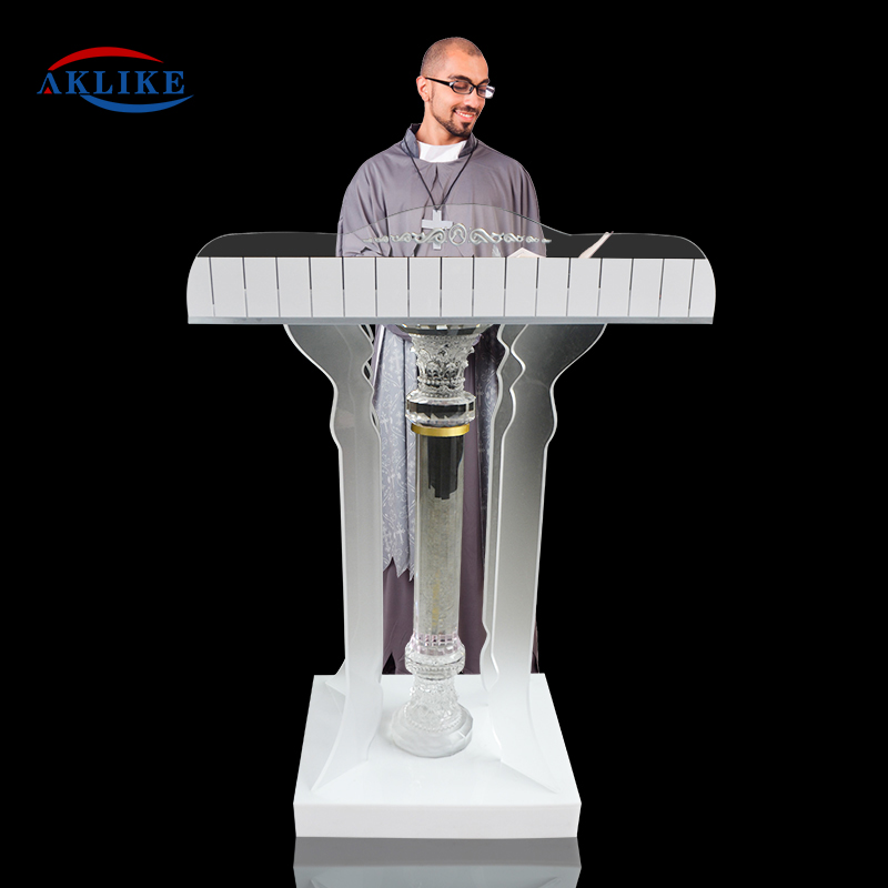Church Pulpit Chairs For Speaker Acrylic Pulpits Modern Aklike Reception Desk Pulpitos Para Iglesias Podiums