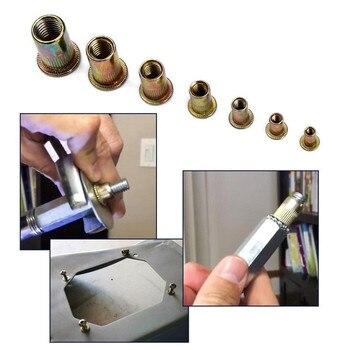 900/1000/1200Pcs M3-M12 מסמרר רובים כלים סט מתכת אגוז מרתק ערכות Rivnut ידני למשוך אגוז מסמרת nutsert להכניס אביזרי