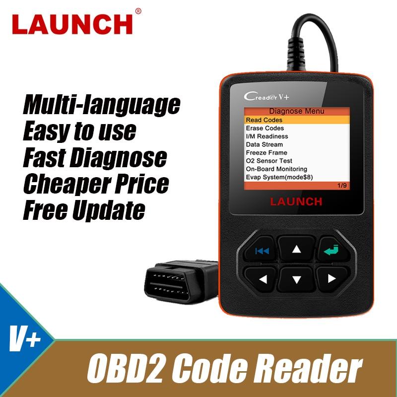 Launch Creader V + OBD2 сканер Live Data ODB2 OBD 2 считыватель кодов неисправностей многоязычный автомобильный диагностический инструмент Бесплатное обновление автомобильный считыватель|Считыватели кодов и сканеры|   | АлиЭкспресс