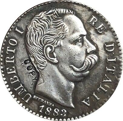 1883 Italy 1 Lire COINS COPY