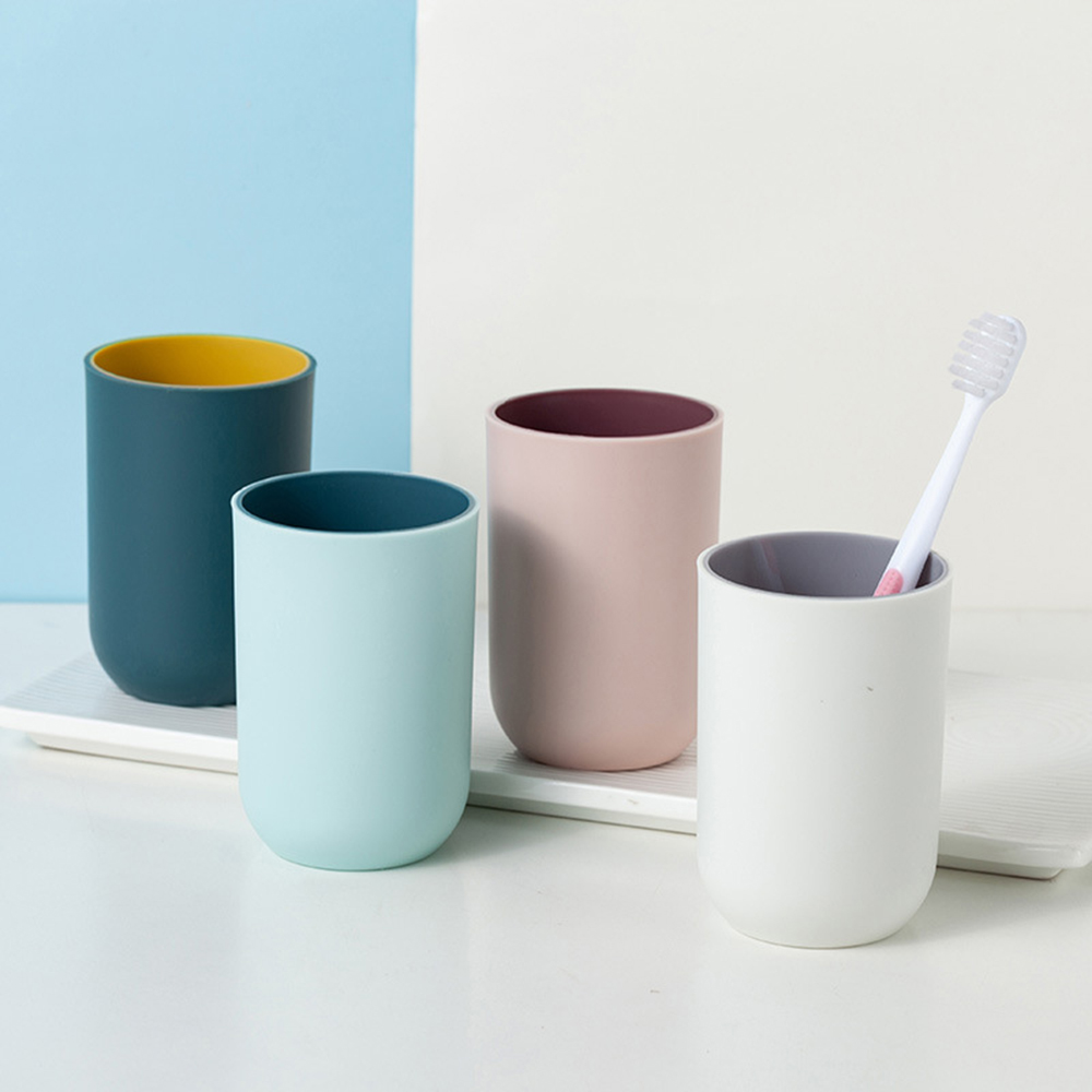 Simple Two-Tone Brush My Teeth Cup Bathroom Cup Water Cup Plain Creative Household Toothbrush Cup