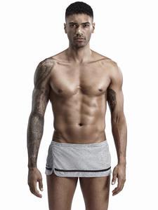 Nightwear Shorts Pajamas Lounge Bottoms Sleepwear Men Sexy Home New Loose Side-Split
