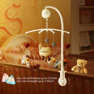 Image 5 - Baby  Bed Bell Toy Holder White Rattles Bracket Mobile Crib Music Box Newborn Bell Crib Toy For 0 12 Month Baby