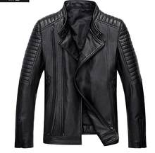 New Men High Quality Sheep Skin Jacket Genuine Leather Moto & Biker coat Men's winter leather jackets leather coats(China)